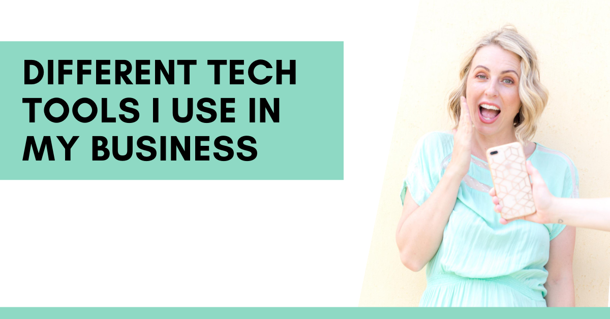 Want to know all the different tech tools I use in my business?